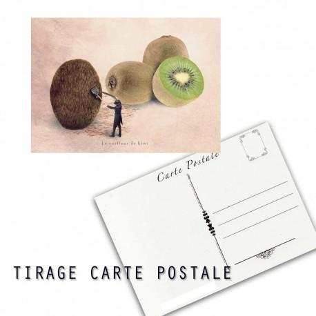Carte postale humoristique kiwi, les tout petits métiers