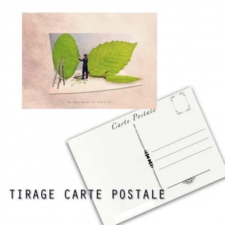 Carte postale humoristique arbre, les tout petits métiers