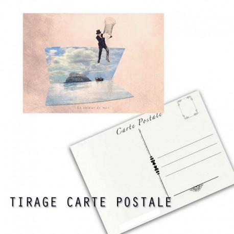Carte postale humoristique vacance, les tout petits métiers