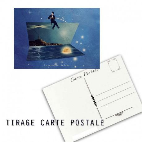 Carte postale humoristique cadeau de naissance, les tout petits métiers