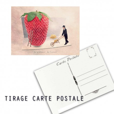 the strawberry seed-sticker, Fine Art color print