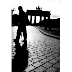 The man in Berlin, Fine Art color print urban landscape