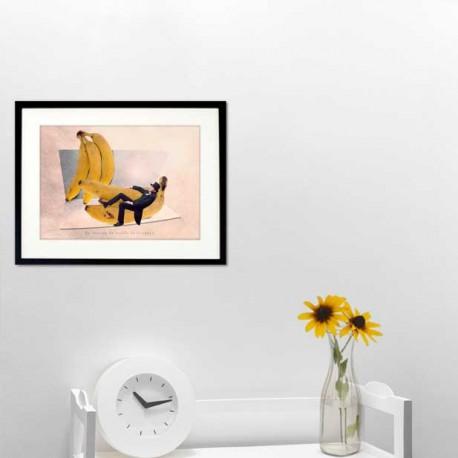 Carte postale humour banane, les tout petits métiers