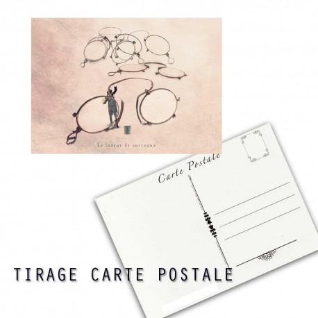 Carte postale humoristique lunette, les tout petits métiers
