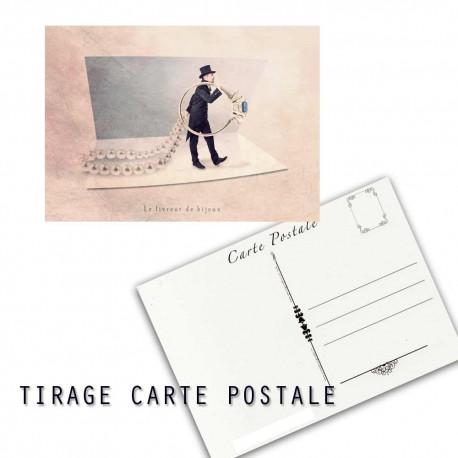 Carte postale humoristique mariage, les tout petits métiers