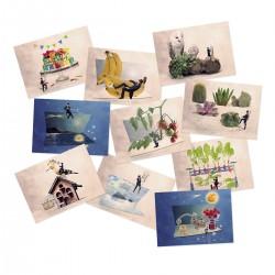 carte postale de fruit, cartes postales, photo oiseau, carte anniversaire, cartes postales, Carte postale humoristique