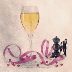 Le bulleur de champagne - Photographie d'art - Photographie d'art couleur - Les Tout Petits Métiers
