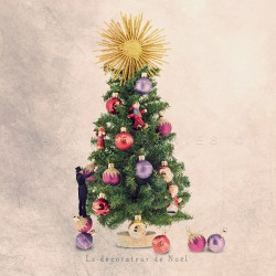 The Christmas decorator, Fine Art color print
