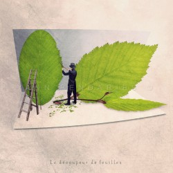 The leave cutter - Fine Art photography - Original Art photography - Tiny Trades series
