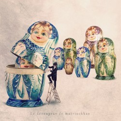 The doll cutter - Fine Art photography - Original Art photography - Tiny Trades series