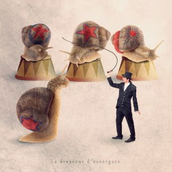 The snail tamer - Fine Art photography - Original Art photography - Tiny Trades series
