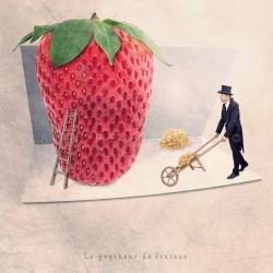 Le graineur de fraises - Photographie d'art - Photographie d'art couleur - Les Tout Petits Métiers