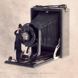 Le nettoyeur de lentilles - Photographie d'art - Photographie d'art couleur - Les Tout Petits Métiers
