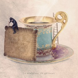 The biscuit sculptor - Fine Art photography - Original Art photography - Tiny Trades series