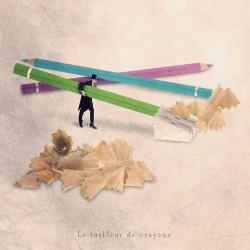 Le tailleur de crayons - Photographie d'art - Photographie d'art couleur - Les Tout Petits Métiers