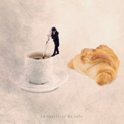 Le touilleur de café - Photographie d'art - Photographie d'art couleur - Les Tout Petits Métiers