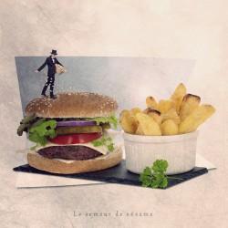 Photo humour hamburger, tout petits métiers