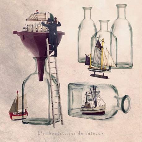 The boat bottler - Fine Art photography - Original Art photography - Tiny Trades series