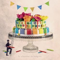Le planteur de bougies - Photographie anniversaire - Les Tout Petits Métiers