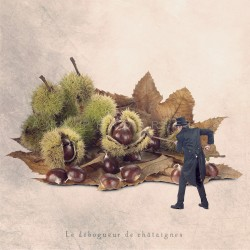 Le débogueur de châtaignes, Photo humour automne, tout petits métiers