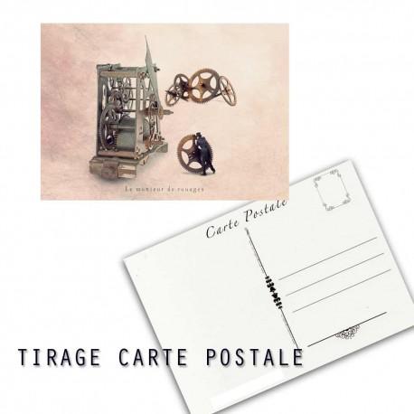 Carte postale humoristique horloge, les tout petits métiers
