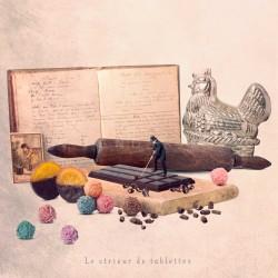 cadeau pour gourmand avec du chocolat, Photographie d'art couleur, Les Tout Petits Métiers