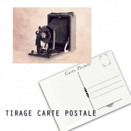 Carte postale humoristique photographe, les tout petits métiers