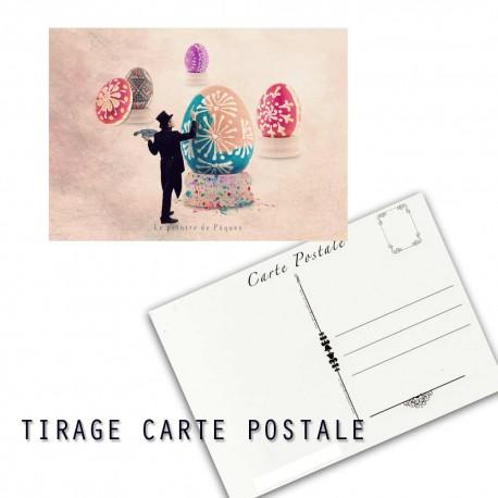 Carte postale humoristique Pâques, les tout petits métiers