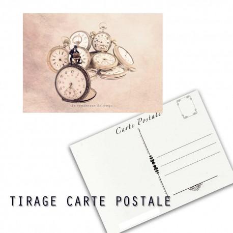 Carte postale humoristique avec montre, les tout petits métiers