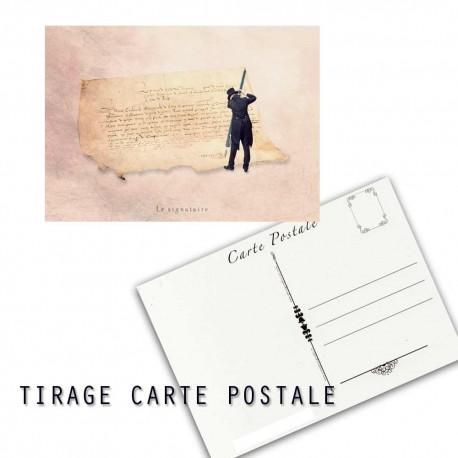 Carte postale humoristique notaire, les tout petits métiers