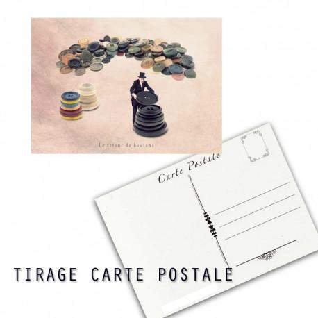 Carte postale humoristique couture, les tout petits métiers