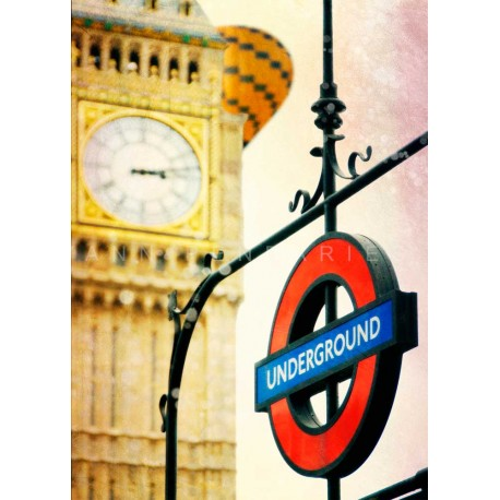 Day 12 London Underground, Fine Art color print