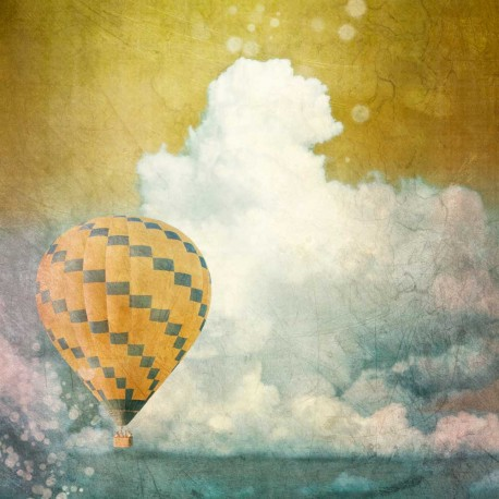 photo de montgolfière, Les nuages, photographie artistique