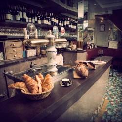 Authentic parisian bar, Fine Art color print urban landscape