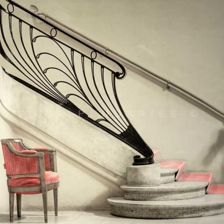 photo d'escalier art nouveau, Le théâtre, photographie artistique de paysage urbain