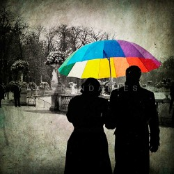The rainbow umbrella, Fine Art color print urban landscape
