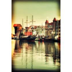 Port of Gdansk, Fine Art color print urban landscape