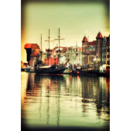 photo du port de Gdansk, photographie artistique de paysage urbain