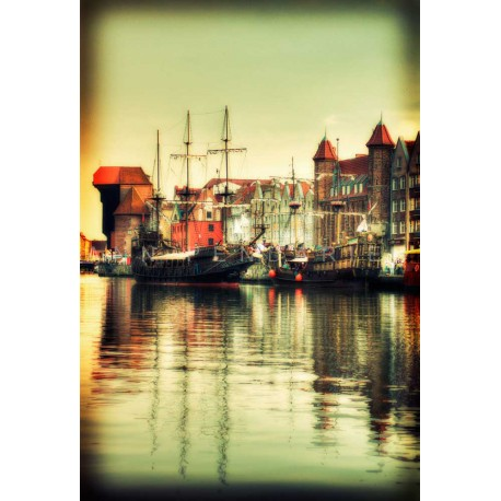 Port of Gdansk, Fine Art color print urban landscape