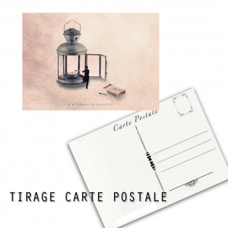 Carte postale humoristique lanterne