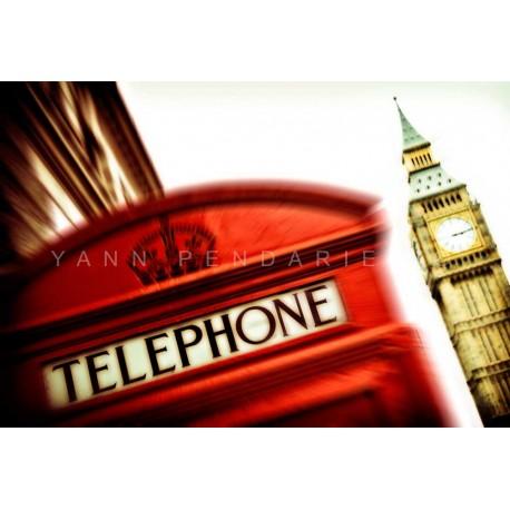 photo de cabine anglaise, Allo Big Ben, photographie artistique de paysage urbain