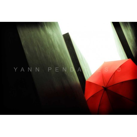 Red Umbrella, Fine Art color print urban landscape