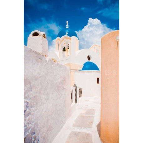 Church of Greece, Fine Art color print urban landscape