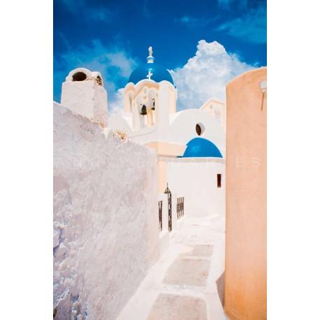 photo d'église de Grèce, photographie artistique de paysage urbain