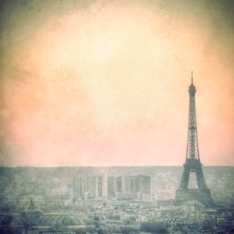 Dawn on the Eiffel Tower, Fine Art Paris print
