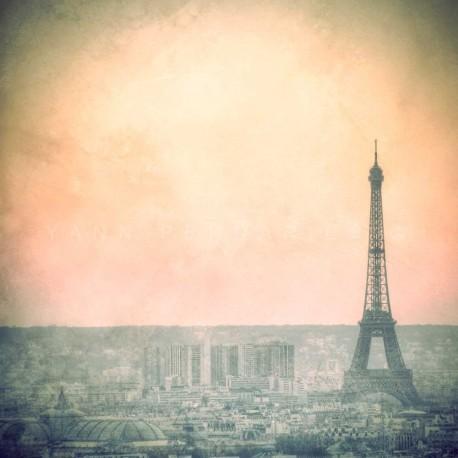 photo de la tour eiffel, L'aube sur Paris, Tirage artistique de Paris