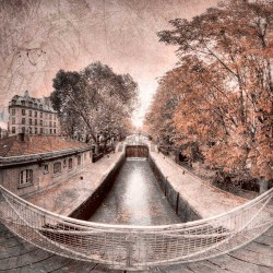 photo du canal Saint Martin, Tirage artistique de Paris