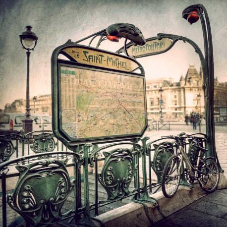 Tirage d 39 art de paris yann pendari s paris saint michel - Saint michel paris metro ...