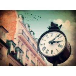 photo de la rue mouffetard Paris, Horloge N°1, Tirage artistique de Paris