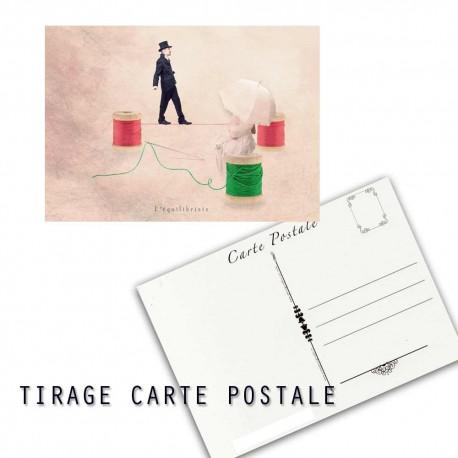 Carte postale couture humoristique , les tout petits métiers